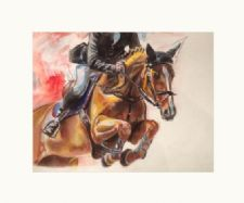 Painting of a Showjumping Horse